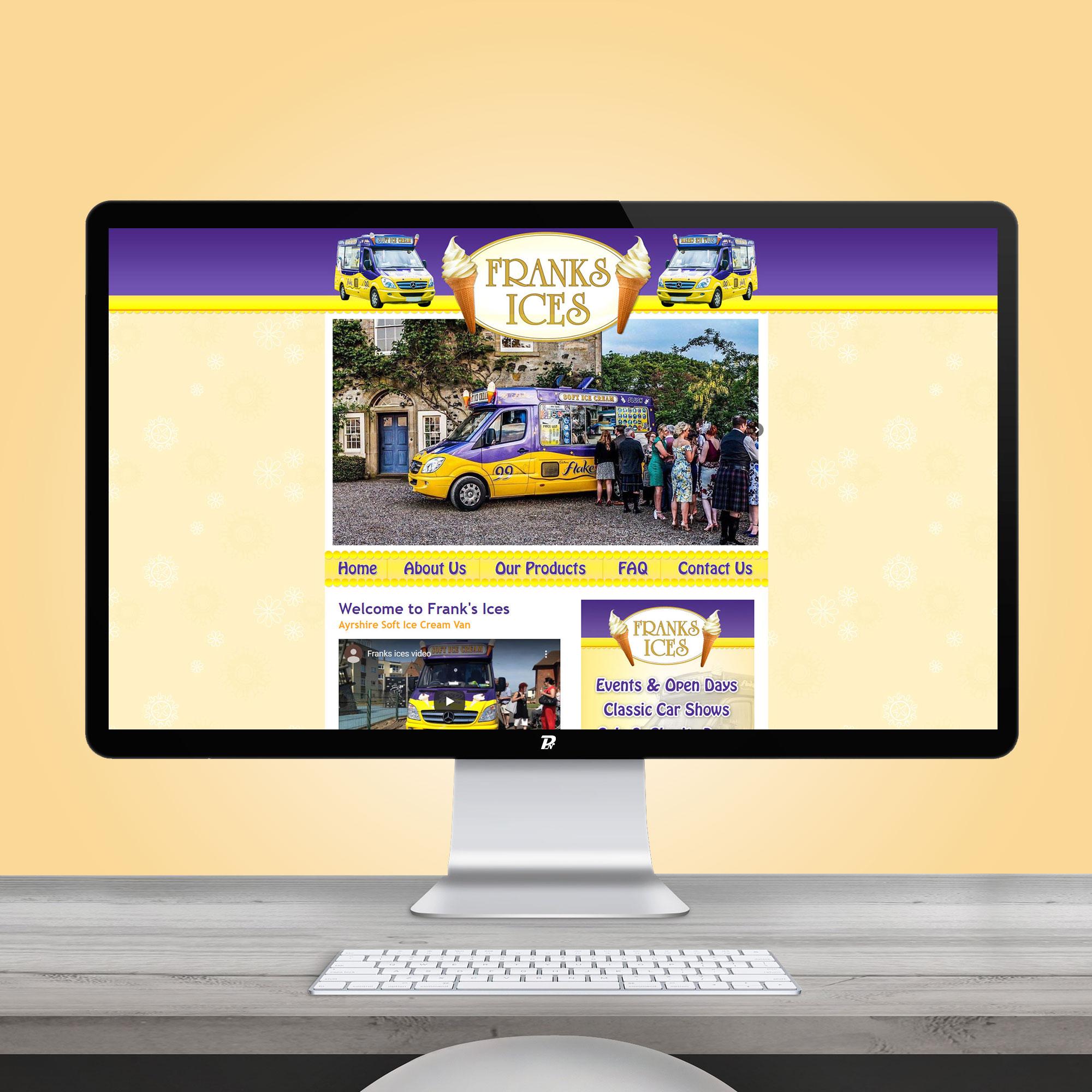 Website Design Franks Ices