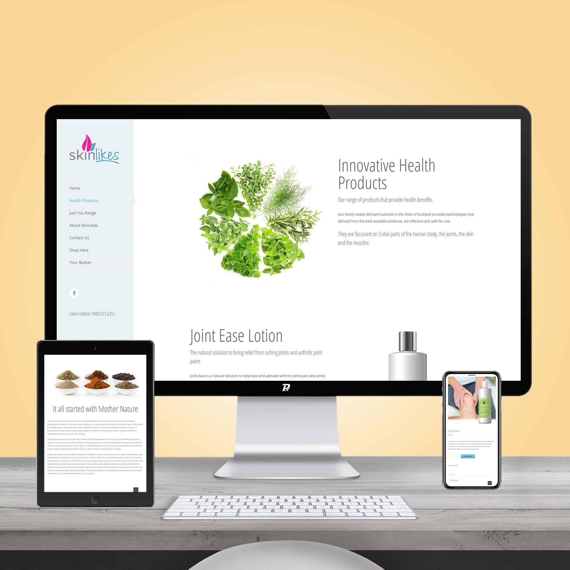 Website Design SkinLikes