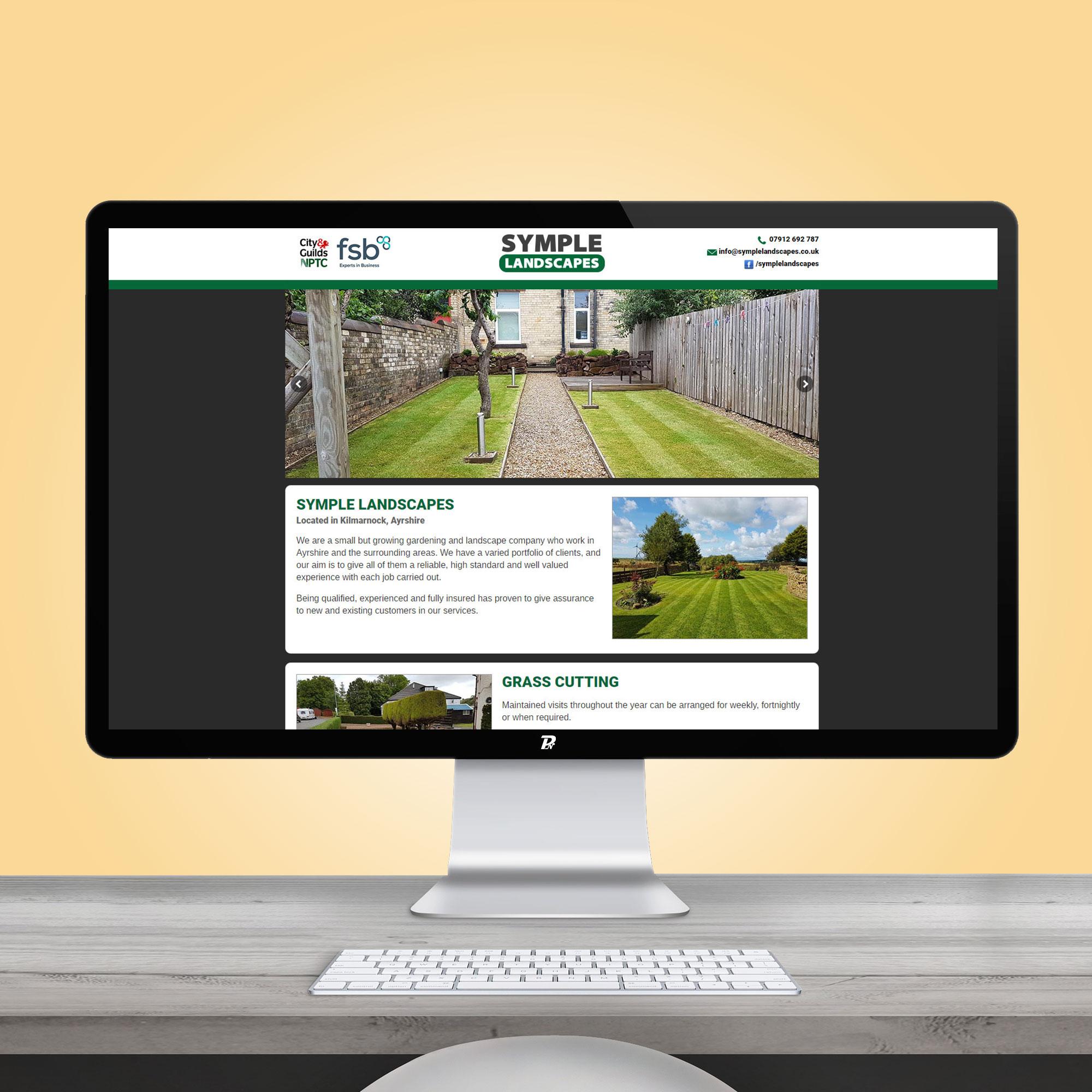 Website Design Symple Landscapes