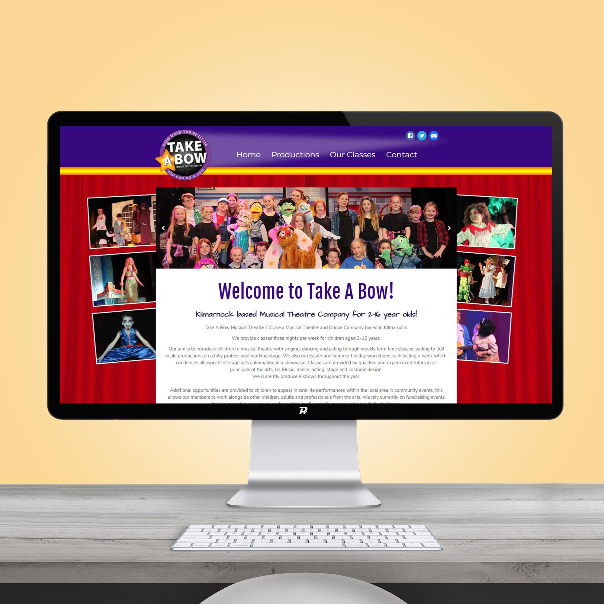 Website Design Take a Bow